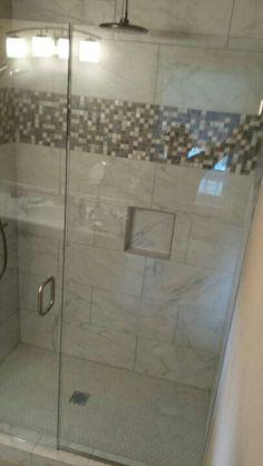 Frameless Shower Britt And Tilson Glass Asheville, NC   Burns Dream Home    Pinterest   Frameless Shower And Shower Makeover