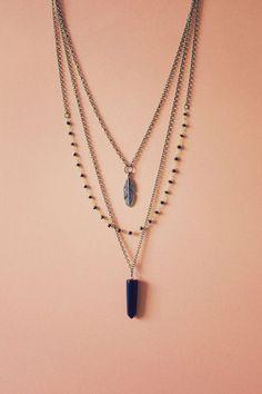 Collar de piedras preciosas capas collar collar por AnankeJewelry