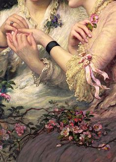 Traveling through history of Art...A Thorn Amidst Roses, by James Sant, 1887.
