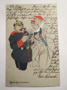 Karikatur Nach DEM Kommers 1904 Studenten UND Polizist Studentika | eBay
