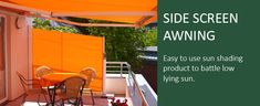 Side opening retractable blinds for screening and wind protection. Made to measure. Blinds For You, Patio Shade, Palm Beach, Backyard, Shades, Garden, Outdoor Decor, Image, Home