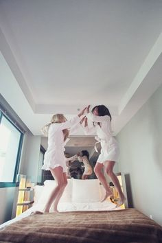 Bride + MOH. We have to do this especially because of the pull out couch incident lol