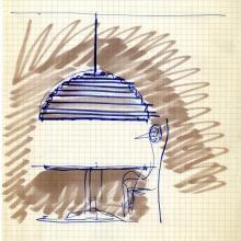 Vico Magistretti, Sonora, 1974 (sketch)