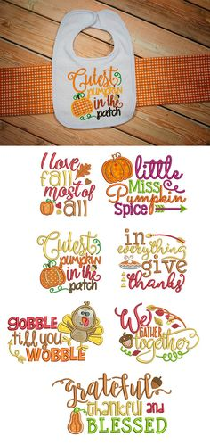 Our Harvest Sayings Set 3 embroidery design set is now available for instant download at designsbyjuju.com