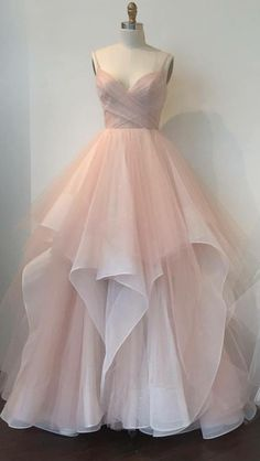 Blush pink tulle sweetheart neckline long senior prom dresses from Sweetheart Dress Senior Prom Dresses, Prom Dresses 2017, Cheap Bridesmaid Dresses, Formal Dresses, Long Dresses, Bridal Dresses, Pink Evening Dress, Pink Dress, Evening Dresses