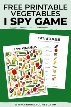 This free vegetables I spy printable game is perfect for kids to do as part of a nutrition unit! The - This free vegetables I spy printable game is perfect for kids to do as part of a nutrition unit! Nutrition Quotes, Nutrition Month, Nutrition Activities, Nutrition Education, Kids Nutrition, Health And Nutrition, Nutrition Crafts For Kids, Nutrition Chart, Nutrition Articles