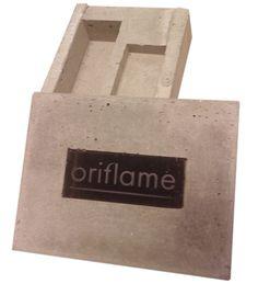 Promotionförpackning i betong, handgjutet, 40ex. Skolprojekt.