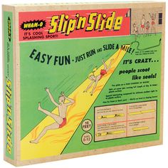 Retro Slip 'N Slide #slipnslide #retro #water #slide #summer