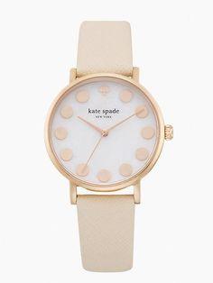 rose gold dot strap metro watch - kate spade New York
