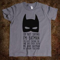 I've never seen Noah and Batman in the same room...just saying... #kids #kids_stuff
