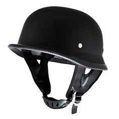 Flat/Matte Black Low Profile German Half Helmet DOT Motorcycle EVOS Sport Street Bike Cruiser Scooter Snowmobile ATV Helmet – Large Reviews $ 21.99 Motorcycle & ATV Product Features Brand New High Quality EVOS German Half Helmet Motorcycle Helmet FMVSS-218 and DOT Safety Standards Injection Molded Polycarbonate and Thermoplastic Composite Shell Color: Matte Black Size: Large (Adult) (59-60cm) (23.25″-23.6″) (Hat Size: 7 3/8 – 7 1/2) Motorcycle & ATV Product Descript..