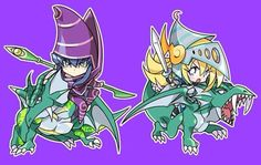 Amulet Dragon and Dark Magician Girl the Dragon Knight.