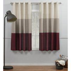 Burgundy Bedroom, Burgundy Curtains, Burgundy Living Room, Living Room Grey, Home Curtains, Room Darkening Curtains, Grommet Curtains, Drapery Panels, Panel Curtains