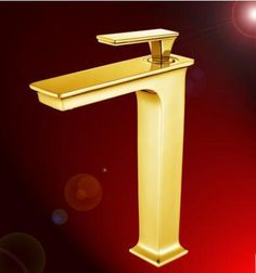 new luxury brass material gold finished bathroom single lever hot and cold sink faucetbasin tap mixer