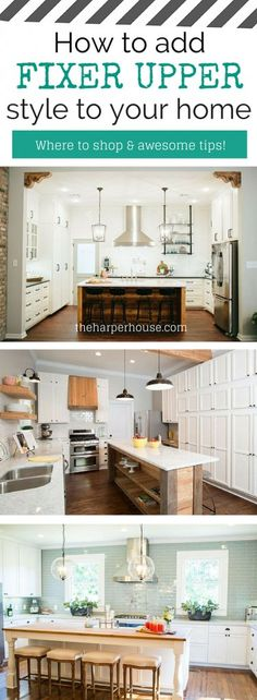 Do you want to add Fixer Upper style to your home but aren't sure where to start? I'll show you exactly what to do, starting with the kitchen | The Harper House