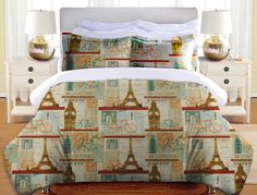 Postcard From Europe Duvet Cover and Shams – Laural Home
