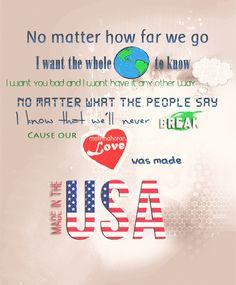 Made in the USA - Demi Lovato Lyrics