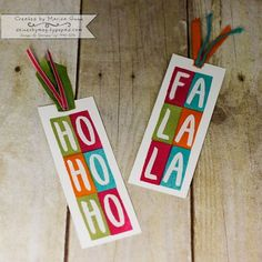 Fancy Friday November 2015, non-traditional Christmas color theme with Layered Letters (Stampin' Up!) by Marisa Gunn