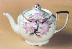 Gold Finial Tea Pot in the Azalea pattern by Noritake