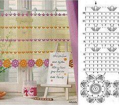 Gardine häkeln filigran - crochet curtain