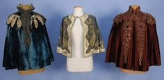 THREE FANCY VICTORIAN CAPES.