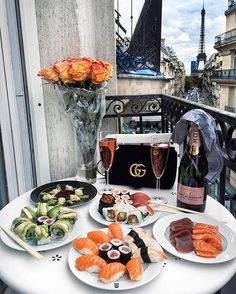 Champagne, sushi and Paris!