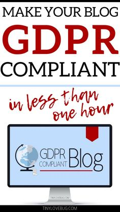 Are you trying to figure out what the GDPR means for you or struggling to get your blog compliant by the deadline of May, 25th? Trying to Learn what are the new rules for email marketing and consent? Created by a lawyer specialised in EU law (LLB, LLM, PhD) and specifically designed for bloggers, this course shows you everything you need to know and do before and after May, 25th. #GDPR #Emailmarketing #Bloglegal
