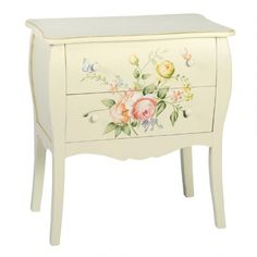 One of my favorite discoveries at ChristmasTreeShops.com: Hand-Painted Roses 2-Drawer Chest