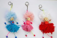 These lucky dolls will help you with that. Doll Crafts, Baby Crafts, Diy Doll, Fun Crafts, Diy And Crafts, Crafts For Kids, Christmas Crafts For Adults, Christmas Diy, Christmas Ornaments