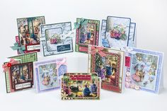 Make these cards by Emma Williams using your Christmas in Holly Pond Hill craft papers courtesy of Joanna Sheen Ltd and free inside your November edition of Making Cards Magazine. Visit www.makingcardsmagazine or call 01778 395171 for single copy sales or to find out more about our amazing subscription offers! Susan Wheeler, November 2015, How To Find Out, How To Make, Free Paper, Card Tags, Making Cards, Christmas Crafts, Gallery Wall