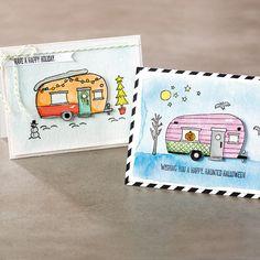Stampin' Up! Glamper Greetings Photopolymer Stamp Set