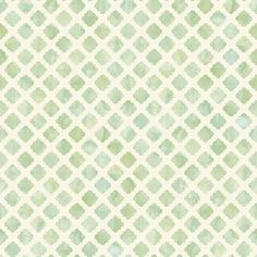 Carey Lind Watercolors White And Green Artisan Tile Wallpaper Wallpaper Wall Decor Home D