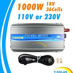 71.99$  Buy here - http://alirvz.worldwells.pw/go.php?t=32609001680 - Grid Tie Inverter 1000W MPPT function Pure Sine Wave 110V OR 220V output 18V Input Micro On Grid Tie Inverter 18V 36 Solar Cells