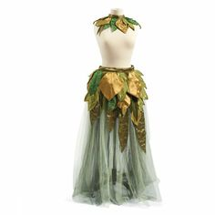 Leaf Skirt with Collar  well idk about the collar but i like the leafy overlay...