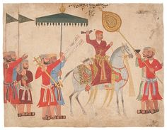 "Sultan Husain Nizam Shah I of Ahmadnagar on Horseback, 1555. Islamic. Cincinatti Art Museum, John J. Emery Endowment (1983.311) | This work is featured in our "" Sultans of Deccan India, 1500–1700: Opulence and Fantasy"" exhibition, on view through July 26, 2015. #DeccanSultans"