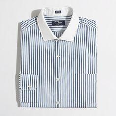 """<ul><li>Cotton.</li><li>Cut 2"""" longer through the body and sleeves.</li><li>Spread collar.</li><li>Machine wash.</li><li>Online exclusive.</li><li>Import.</li></ul>"""