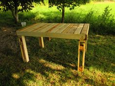 #Garden, #PalletTable, #RecycledPallet