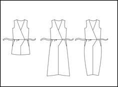 Pattern hacking: transform the Jazz jumpsuit into a wrap jumpsuit (no zip no buttons) bathroom and nursing friendly! Transformez le patron Jazz en combinaison wrap (sans zip ni boutons) Pipi et allaitement compatible! Corsage, Jazz, Wrap Jumpsuit, Techniques Couture, Jumpsuit Pattern, African Fashion, Bobby Pins, Bodice, Sewing Patterns