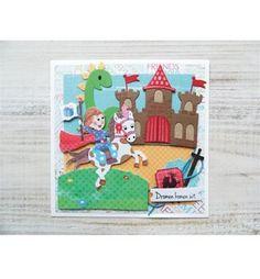 Carte chevalier - Boutique scrapbooking - Die BigShot Marianne Design die château