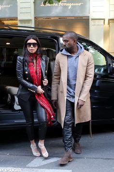 Kim Kardashian and Kanye West on their honeymoon
