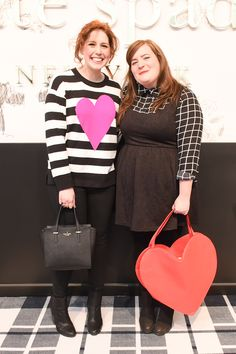 aidy bryant and vanessa bayer at the kate spade new york fall 2015 presentation