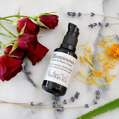 Angel Face Botanicals Illuminesce Glow & Repair Organic Facial Serum with MSM, DMAE & Calendula is packed with a powerhouse of 17 skin food super-nutrients