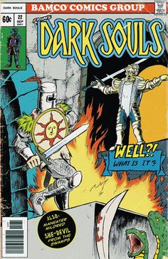 Dark Souls Vintage Comic Cover by DerZocker