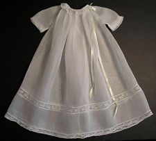 Vintage organdy baby gown.