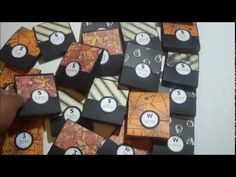 ▶ Halloween Series #2 Quick, Easy and Inexpensive Candy Holders - YouTube  tent holders with candy glued in