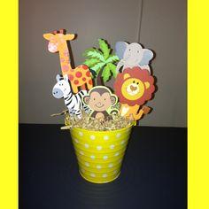 Ideas baby shower ideas for boys jungle safari center pieces Boy Baby Shower Themes, Baby Boy Shower, Baby Shower Gifts, Baby Showers Juegos, Baby Shower Vintage, Elephant Baby Showers, Baby Shower Centerpieces, Baby Birthday, First Birthdays