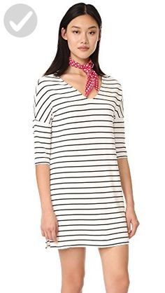 01a626756aab BB Dakota Women s Jaxson Stripped French Terry V Neck Knit Dress