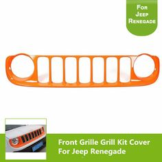 ABS Orange Front Bumper Front Grille Mesh Grill Vent For Jeep Renegade 2014-2017 //Price: $US $199.00 & FREE Shipping //