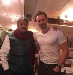 """Omar Pravinkumar Vaja on Instagram:      """"A chance meeting with the delightful Mr Hiddleston at Ciao Bella. What a fun evening it was! And he was such a gentleman!"""""""