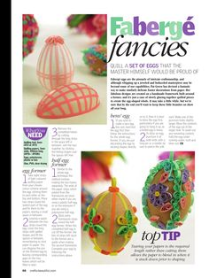 Quilling easter eggs!
